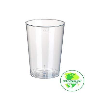 Gastro-Bedarf-Gutheil 40 Trinkbecher 0,1l Plastikbecher Mehrwegbecher Probierbecher