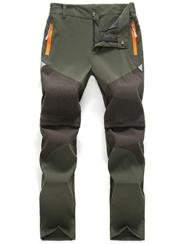 CHENXI Unisex Jugend Mädchen Sommer Trekkinghose Armeegrün 170