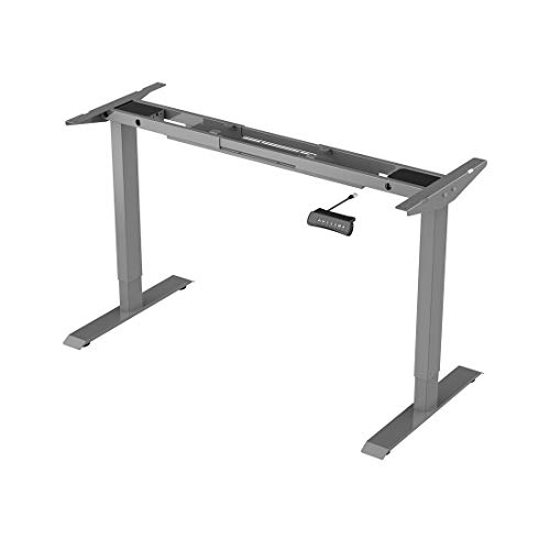 Flexispot ED2S Höhenverstellbarer Schreibtisch Elektrisch höhenverstellbares Tischgestell, passt für alle gängigen Tischplatten. Mit Memory-Steuerung und Softstart/-Stop.