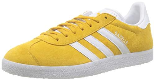 adidas Herren Gazelle Gymnastikschuhe, Gold (Active Gold/FTWR White/FTWR White Active Gold/FTWR White/FTWR White), 39 1/3 EU
