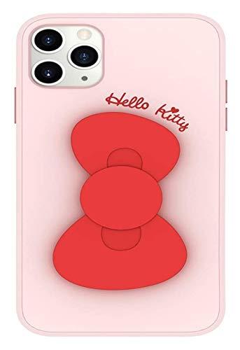 Funda de teléfono de Silicona líquida con Titular de Bowknot Anti-DactingPrint Anti-Fall Carcasas adecuadas para iPhone12 Mini, iPhone12 / 12 Pro, iPhone12 Pro MAX Funda, Rojo, iPhone 12/12 Pro Funda