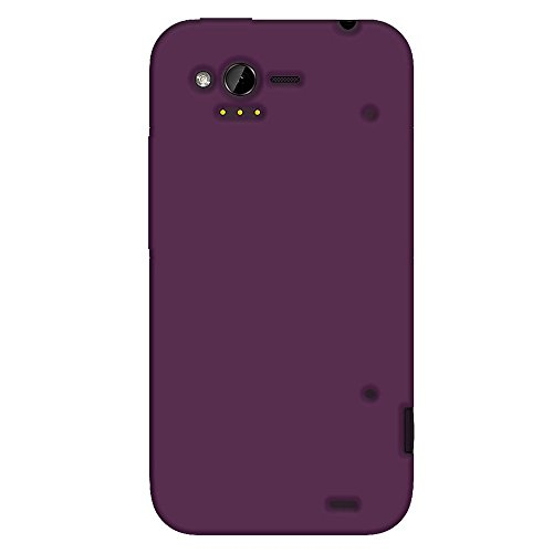 Amzer Purple Silicone Jelly Skin Fit Cover Case for HTC Rhyme - Retail Packaging - Purple