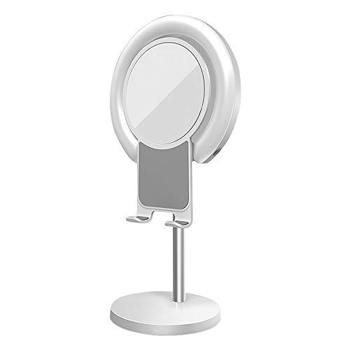 Docooler Anillo de luz LED para maquillaje de escritorio, iluminación con soporte...