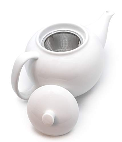 NERTHUS FIH 556 Tetera porcelana con filtro/Porcelain Teapot with filter, Acero Inoxidable