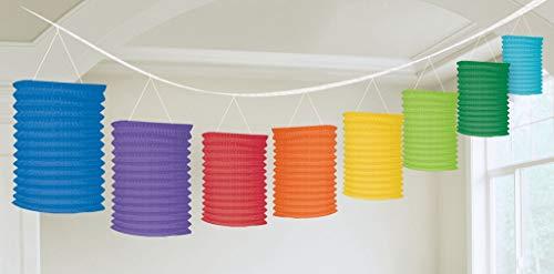 amscan 3,65 m lámparas esféricas de Papel Guirnalda, diseño de Arco Iris