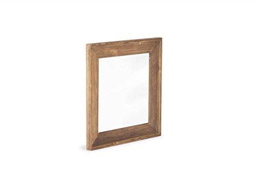 massivum Spiegel Caracas 60x60x3 cm Teak natur gebeizt