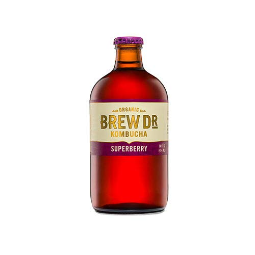 Brew Dr. Kombucha Superberry, 14 Oz (Pack Of 12)