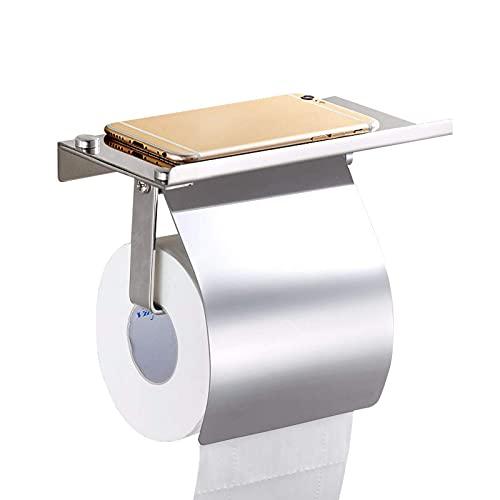 DZNOY Toilet Tissue Holder 304 Stainless Steel Toilet Paper Holder With Lid Mobile Phone Holder Toilet Roll Paper Holder Bathroom Toilet paper holder