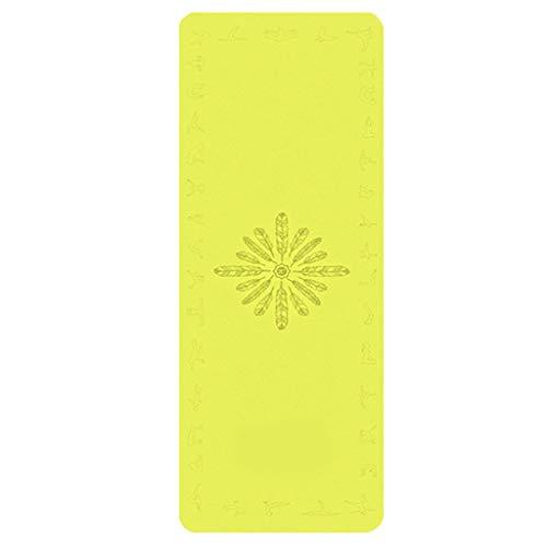 GCX Antideslizante Esterilla de Yoga Caucho Natural Masculino y Femenino Tercera Edad Estera de Yoga Antideslizante Movimiento (Color : L)