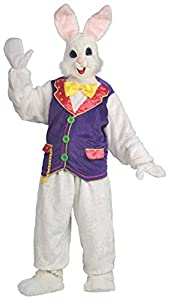 100% Polyester. Imported. Hand wash. Costume components are: shirt with attached vest, pants, faux-fur covered full vinyl headpiece, bowtie, mittens, and shoe covers. Can also be worn with open-face hood with attached ears and nose/teeth piece (Inclu...