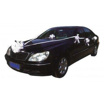 Cotillon d'alsace - Kit blanc de décoration de voiture mariage