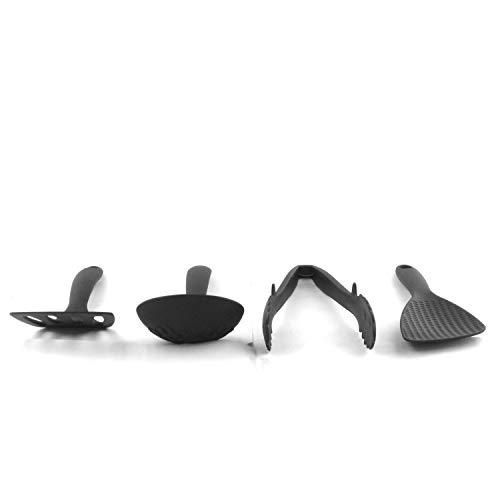 『ナガオ 燕三条 ミニ キッチンツールセット 4本 フライ返し おたま トング ヘラ ブラック 日本製』の5枚目の画像