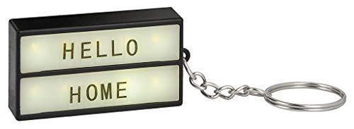 Mini-Lichtbox am Schlüsselbund | Schlüsselanhänger zum Selbstgestalten | Mit 75 Buchstaben, Ziffern und Symbolen