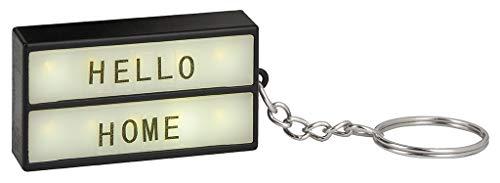 Moses Mini boîte lumineuse sur trousseau de clés - Porte-clés à personnaliser - Avec 75 lettres, chiffres et symboles