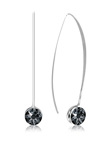 So Charm with Crystals from Swarovski Pendientes Negro