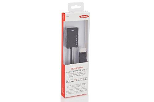 ednet 84496 DisplayPort Grafik Adapter DP zu HDMI Typ A 4K Ultra HD 60Hz 4096 x 2160 Pixel Schwarz