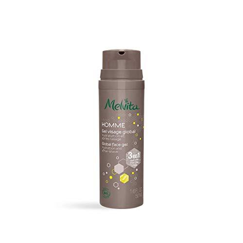 Melvita - Soin Visage Homme - Soin énergisant 3 en 1 - Hydrate, revitalise, raffermit la peau - Texture raffraîchissante - Certifié bio, Naturel à 99%, Vegan - Flacon 50ml