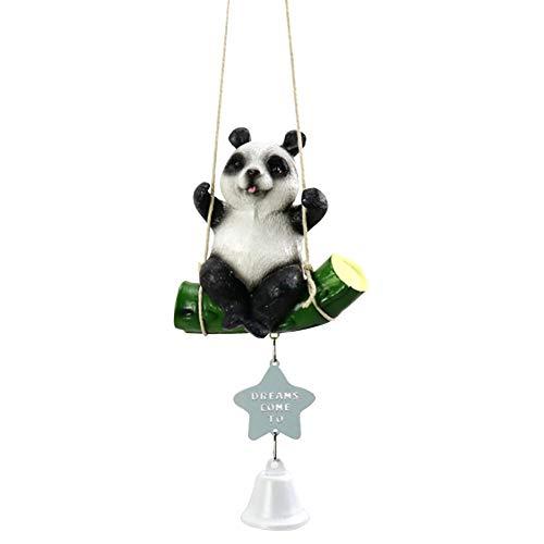 Kalaokei Carillon à Vent en Forme de Panda à Suspendre, Résine, métal, Panda