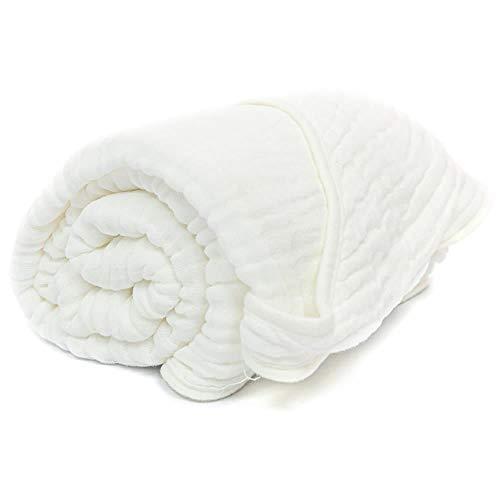 Primo Passi Muslin Hooded Towel   Baby Hooded Towels   Kids Hooded Towels (White)
