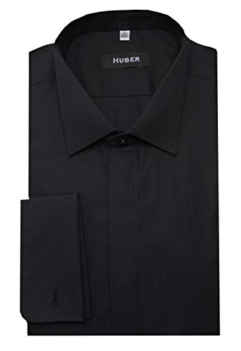 Huber HUBER Smokinghemd schwarz XL
