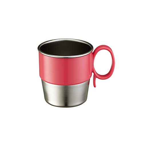 Innobaby Din Din Smart Stainless Steel Cup (9 oz) with Handle for Babies, Toddlers and Kids. BPA Free, Pink