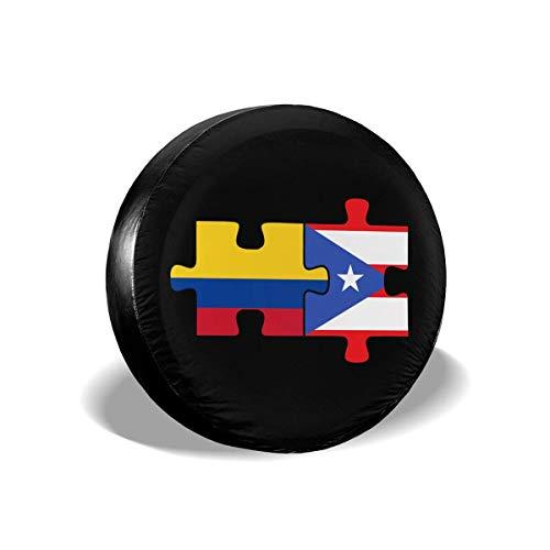Enoqunt Kolumbia Puerto Rico vlaggen puzzel bandenafdekking voor voordelige caravans en vele voertuigen