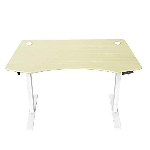 MAIDeSITe - Escritorio de altura regulable eléctrica con estructura de mesa, 2 plataformas elevadoras para todo tipo de patas de mesa | Protección contra colisiones | Función de memoria (blanco)