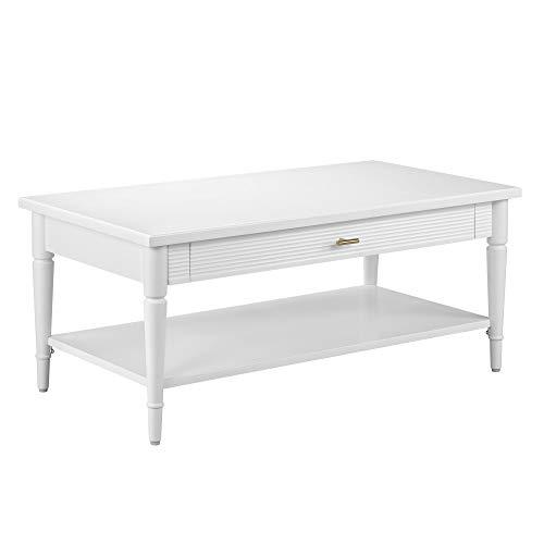 Amazon Brand – Ravenna Home Classic Coffee Table, 42'W, White