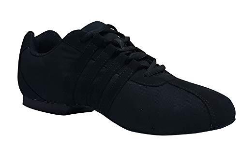 Unisex Zoom Jazz Ballroom Dance Sneaker (11) Black