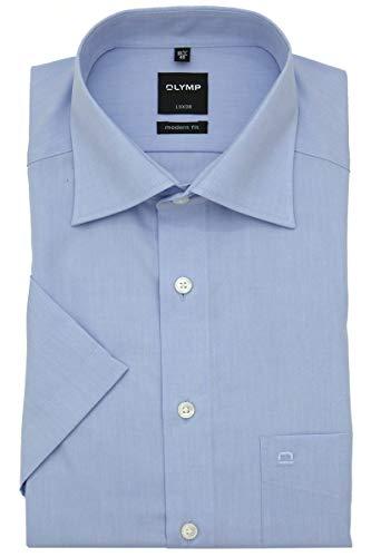 Olymp Luxor Herren Hemd Modern Fit Kurzarm, hellblau, Gr. 42