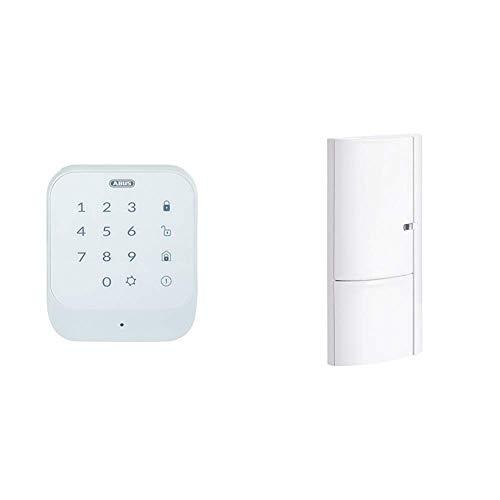 ABUS Funk-Tastatur Smartvest zur De- und Aktivierung der Funk-Alarmanlage   Code oder RFID Chip   weiß & Öffnungsmelder Smartvest für Funk-Alarmanlage   verwendbar an Türen und Fenster   weiß