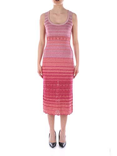 Twinset lange Lurex gebreide jurk met strepen