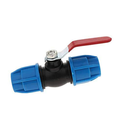 Tubayia Válvula de descarga de 2 vías para jardín, conector de manguera de jardín (núcleo de acero de 32 mm)