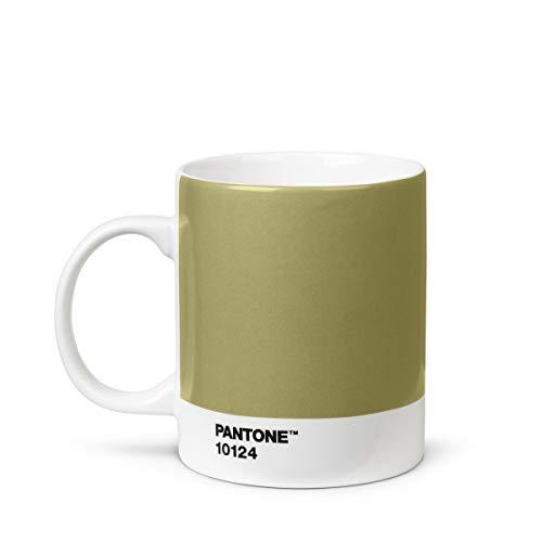 Pantone Porzellan Becher, Kaffeetasse 375 ml, mit Henkel, spülmaschinenfest, gold