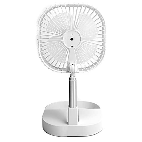 Mini ventilador USB, ventilador de mesa plegable portátil ajustable de 4 velocidades, ventilador enfriador de verano Ventilador de escritorio pequeño, para el hogar, la oficina, el domicilio, etc.
