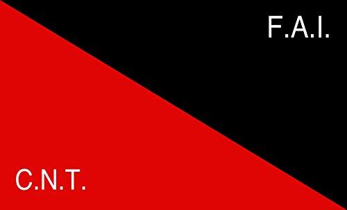 DIPLOMAT-FLAGS CNT-FAI | Rossonera utilizzata Dalla CNT-FAI confederaciòn nacionàl de los Trabajadores - federaciòn anarquista iberica Bandera | Bandera Paisaje | 0.06m² | 20x30cm para