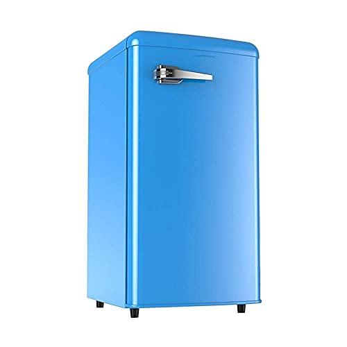 H.Slay Frigorífico bajo encimera SHKUU Independiente de 90L con Mango, Temperatura Ajustable, compresor de Mesa Compacto de Baja energía de 90L para la Cocina del hogar