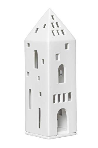 Räder 14446 LIVING - Lichthaus, Teelichthaus - Turm - Porzellan - 6x6x20,5cm