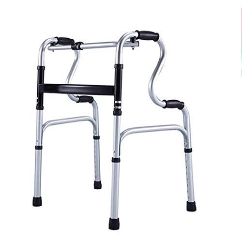 Mobilität Medizin Tragbar Höhenverstellbar Rollator Gehhilfe Kompaktklappbar Walke Klappbar für Senioren, Behinderte, Behinderte Max 180kg