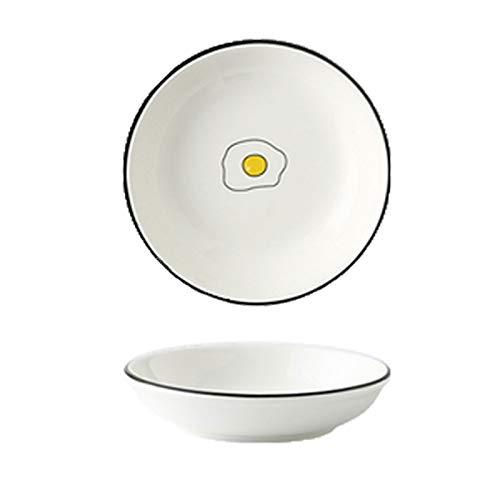Salsera Cuencos de inmersin Set 10 PCS Condimento Platos Snack redondo Sirviendo platos Blanco Porcelana Dump Save Bowls Simple Style Good for Home Kitchen Para hoteles familiares ( Style : C )