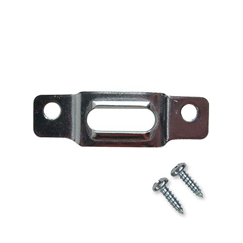 T-Screw Security Plate Lock -100 Pack - Wood Frame Security Hanger - Picture Frame Lock Hardware T-Screw Mounting Plate - Security Frame Hardware