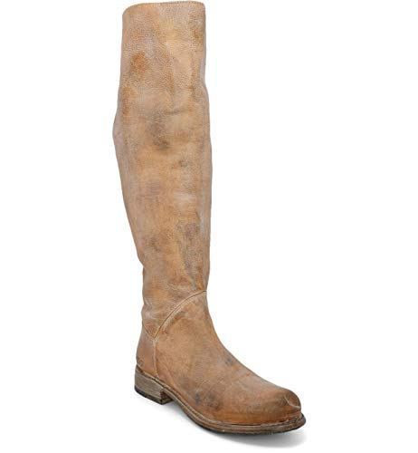 BED STU Women's Manchester Wide Calf Leather Boot (10, Tan Rustic White BFS)