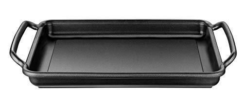 Monix Grillplatte glatt Solid+ Teflon Classic beschichtet 40 x 28 cm