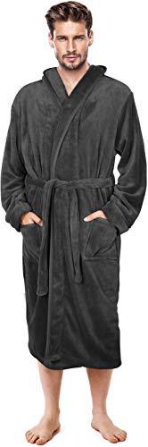 NY Threads Mens Hooded Robe – Plush Long Bathrobes for Men