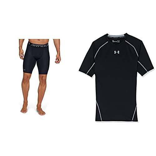 Under Armour Heatgear 2.0 Long Pantalón De Compresión, Hombre, Negro (Black/Graphite), XL...