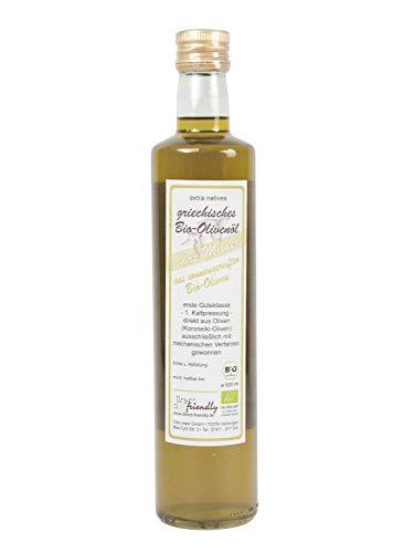 direct&friendly Griechisches Bio Olivenöl mild, extra nativ - aus der Region Mani (500 ml)