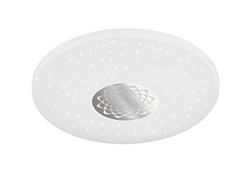 ACTION by WOFI plafondlamp, plastic, metaal, geïntegreerd, 20 W, wit, 45 x 45 x 7,5 cm
