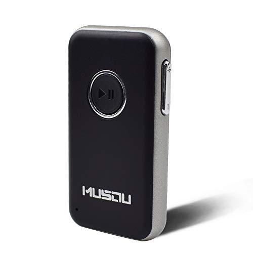 Ricevitore Bluetooth Musou 4.1 Ricevitore Musicale Adattatore Jack audio da 3,5 mm per la Casa e Sistema stereo per auto e altoparlante supporto Chiamate in Vivavoce.