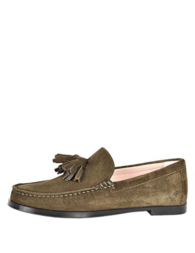 Pretty Ballerinas Women's Josephine Loafers Suede Olive Green in Size 41