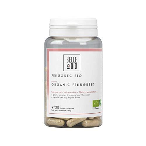 Belle&Bio Fenugrec Bio, 300 mg/gélule, Digestion, Certifié Bio par Ecocert, Fabriqué en France, 120 Gélules